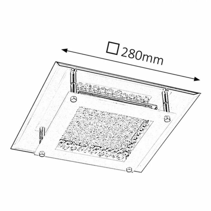 Rábalux Sharon 2444 plafoniere cristal crom metal LED 12 1080 lm 4000 K IP20 A+