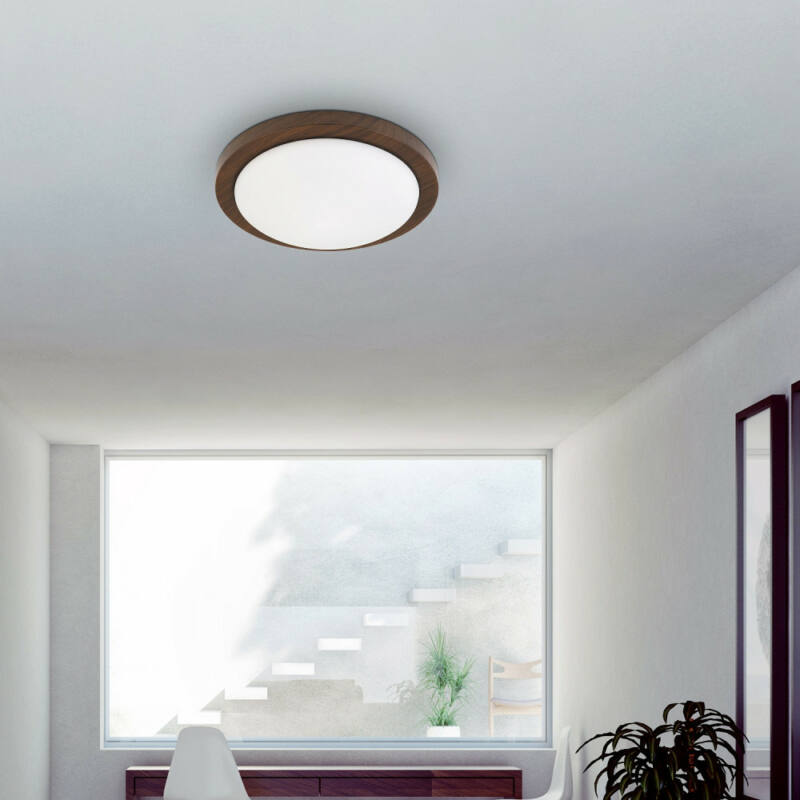 Rábalux Disky 3568 plafoniere  wenge   metal   E27 2x MAX 40W   IP20