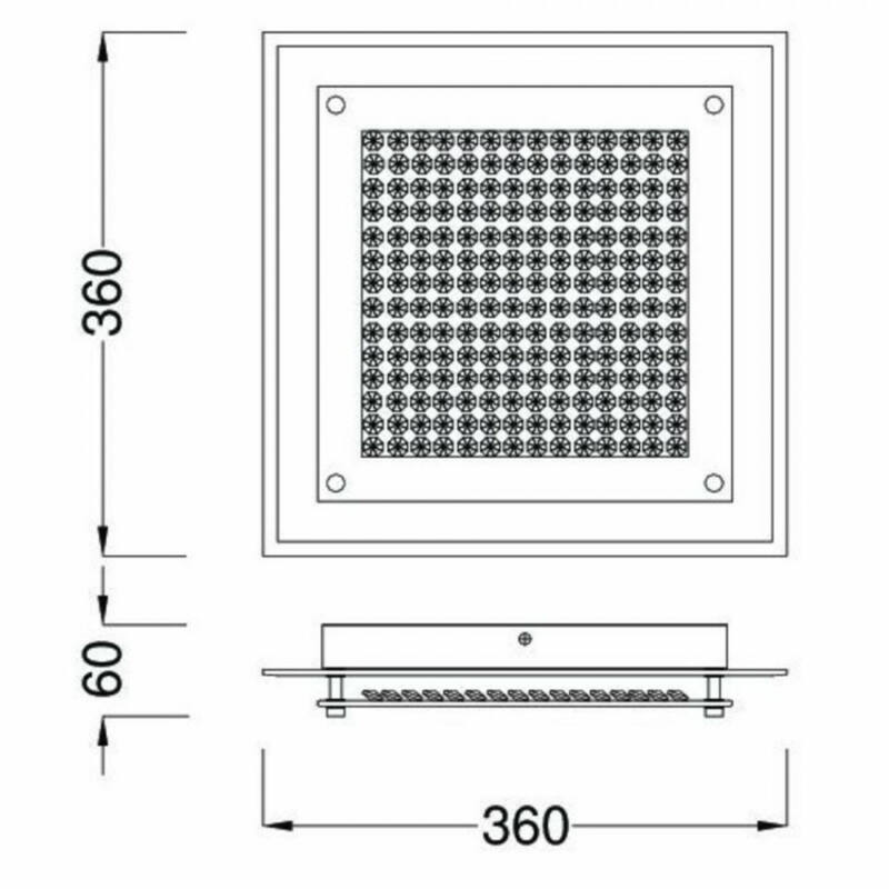 Mantra CRYSTAL LED 4581 plafoniere cristal crom metal 1xLED max. 18W LED 1 1800 lm 4000 K IP20 A++