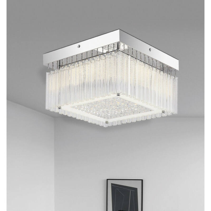 Rábalux Marcella 2451 plafoniere cristal crom metal LED 18 1550 lm 4000 K IP20 G
